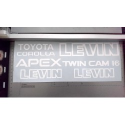 AE86 Sticker - Toyota Corolla Levin AE86 full decal set