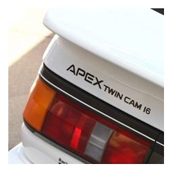 AE86 Sticker - Apex Twin Cam 16 AE86 rear decal