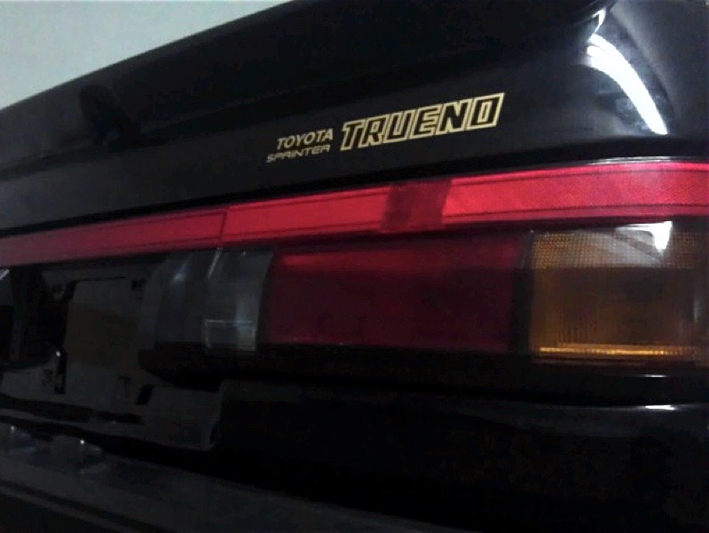 Accurate copies of the AE86 stickers